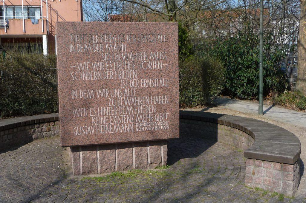 Gedenkstein Friedenspark Ludwigshafen